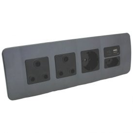 Double RSA Sockets, Single RSA Schuko, Single USB Charger and Single RSA V-Slim 3