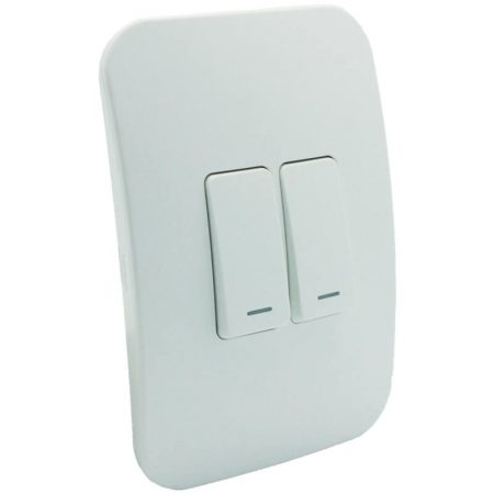 Two Lever One-Way White Switch 1