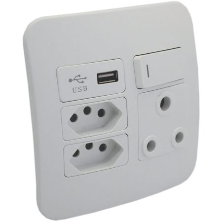 1 x RSA, 2 x RSA V-Slim and 1 x USB Charger Socket Outlet 1