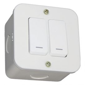 Two Lever One-Way Switch - White 9