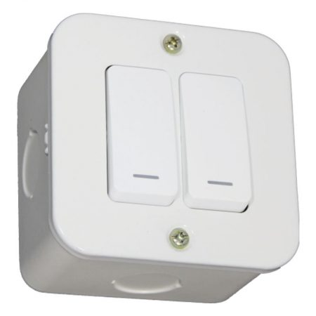 Two Lever One-Way Switch - White 1