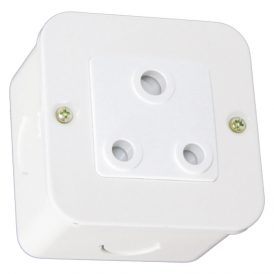 Unswitched 16A RSA Socket Outlet - White 13