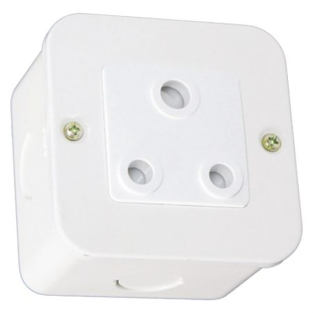 Unswitched 16A RSA Socket Outlet - White 1