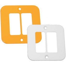 Two Single Module Cover Plate 8