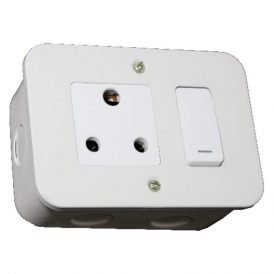 Switched Single 16A RSA Socket Outlet 8