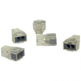 Transparent 2 Pole Terminal Block: 50 pcs 1