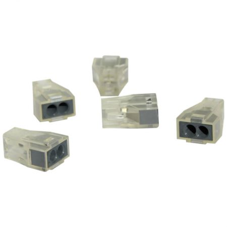 Transparent 2 Pole Terminal Block: 5 pcs 1
