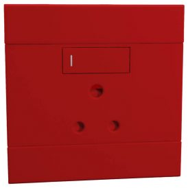 Single Dedicated 16A RSA Socket Red 12