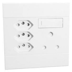 Switched Socket with single 16A RSA; 3 x 16A RSA V-Slim Socket White 3