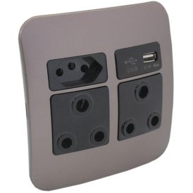 2 x RSA, 1 x RSA V-Slim and 1 x USB Charger Socket Outlet 2
