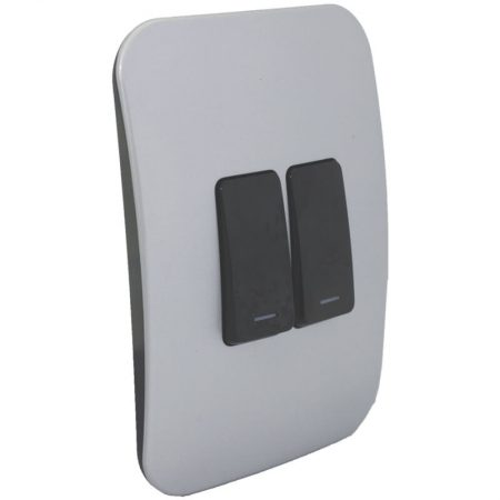 Two Lever One-Way Black Switch 1