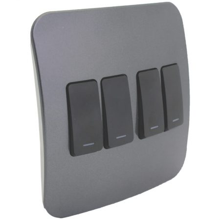 Four Lever One-Way Black Switch 1
