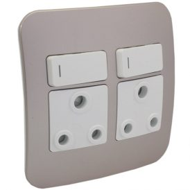 Double RSA Socket Outlet 9