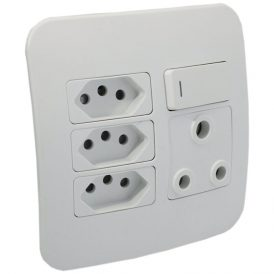1 x RSA and 3 x RSA V-Slim Socket Outlet 3
