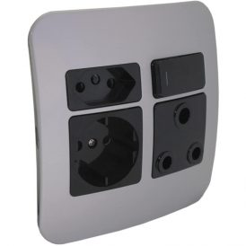 1 x RSA, 1 x RSA V-Slim and 1 x RSA Schuko Socket Outlet 7