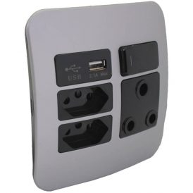 1 x RSA, 2 x RSA V-Slim and 1 x USB Charger Socket Outlet 7