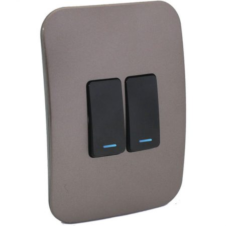 Two Lever One-Way Black Switch with Locator 1