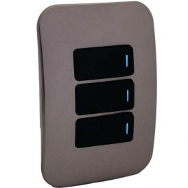 Three Lever One-Way Black Switch Horizontal with Locator 10