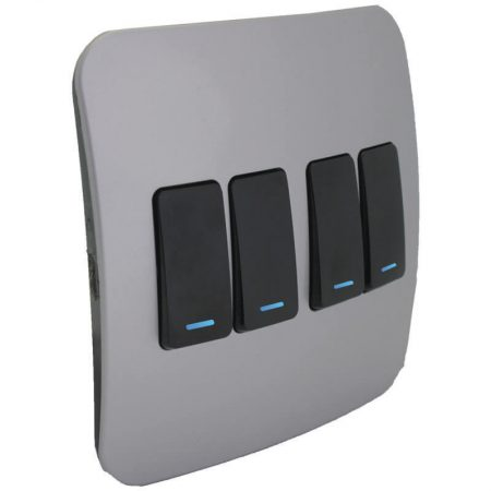 Four Lever One-Way Black Switch with Locator 1