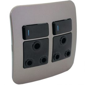 Double RSA Socket Outlet with Indicator 9