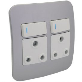 Double RSA Socket Outlet with Indicator 8