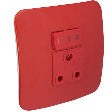 Single Dedicated Red Socket Outlet 1