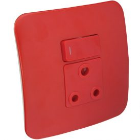 Single Dedicated Red Socket With DP Switch 4