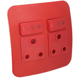 Double Dedicated Red Socket Outlet 12