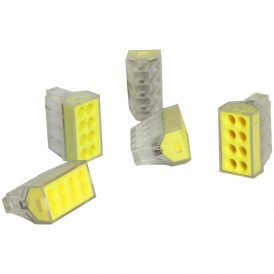 Transparent 8 Pole Terminal Block: 5 pcs 4