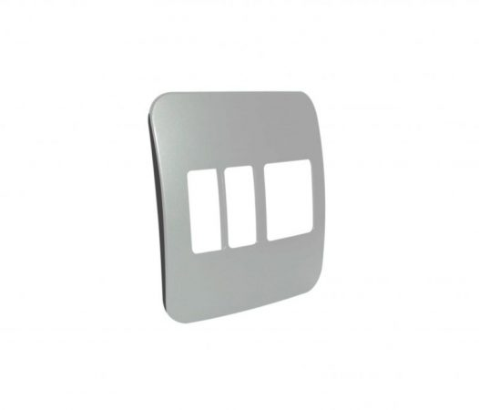 Three Module Cover Plate (1 Double, 2 Single Vertical) 1